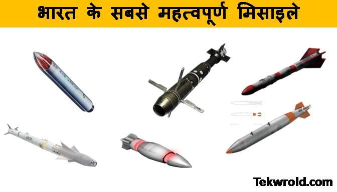 भारत की मिसाइल ( भारत में कितने प्रकार की मिसाइल है ? )