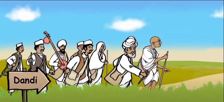 महात्मा गांधी के द्वारा दांडी मार्च