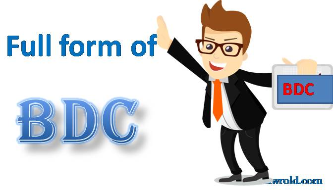 bdc ka full form